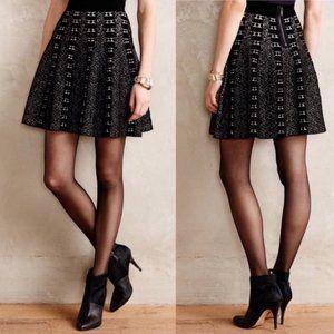 MOTH Black and White Jacquard Knit Skirt